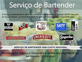 Bartender | Ernane´s Buffet em Campinas